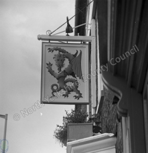 Bedale, Green Dragon Inn Sign